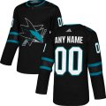 San Jose Sharks Custom Letter and Number Kits for Black Jersey