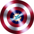Captain American Shield With Miami Dolphins Logo decal sticker