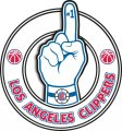 Number One Hand Los Angeles Clippers logo iron on sticker