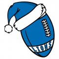 Detroit Lions Football Christmas hat logo iron on sticker
