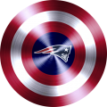 Captain American Shield With New England Patriots Logo decal sticker