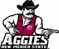 New Mexico State Aggies 2007-Pres Primary Logo iron on sticker