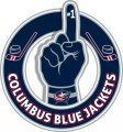 Number One Hand Columbus Blue Jackets logo iron on sticker