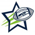 Seattle Seahawks Football Goal Star logo iron on sticker