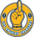 Number One Hand Los Angeles Chargers logo decal sticker