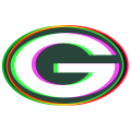 Phantom Green Bay Packers logo iron on sticker