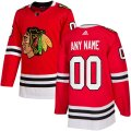Chicago Blackhawks Custom Letter and Number Kits for Red home Jersey