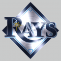 Tampa Bay Rays Stainless steel logo iron on sticker