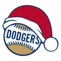 Los Angeles Dodgers Baseball Christmas hat logo decal sticker