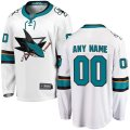 San Jose Sharks Custom Letter and Number Kits for White Jersey