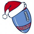 Tennessee Titans Football Christmas hat logo iron on sticker