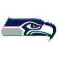 Phantom Seattle Seahawks logo iron on sticker