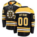 Boston Bruins Custom Letter and Number Kits for Black home Jersey
