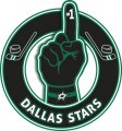 Number One Hand Dallas Stars logo iron on sticker
