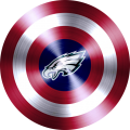 Captain American Shield With Philadelphia Eagles Logo decal sticker