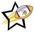 Minnesota Vikings Football Goal Star logo iron on sticker