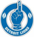 Number One Hand Detroit Lions logo decal sticker
