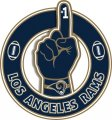Number One Hand Los Angeles Rams logo decal sticker