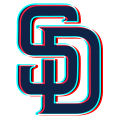 Phantom San Diego Padres logo decal sticker