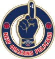 Number One Hand New Orleans Pelicans logo iron on sticker