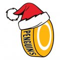 Pittsburgh Penguins Hockey ball Christmas hat logo decal sticker