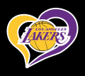 Los Angeles Lakers Heart Logo decal sticker