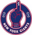 Number One Hand New York Giants logo decal sticker