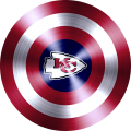 Captain American Shield With Kansas City Chiefs Logo decal sticker