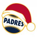 San Diego Padres Baseball Christmas hat logo decal sticker