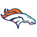 Phantom Denver Broncos logo iron on sticker