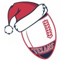 Houston Texans Football Christmas hat logo iron on sticker