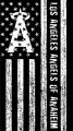 Los Angeles Angels of Anaheim Black And White American Flag logo iron on sticker