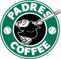 San Diego Padres Starbucks Coffee Logo iron on sticker