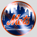 New York Mets Stainless steel logo iron on sticker