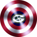 Captain American Shield With Green Bay Packers Logo decal sticker