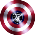 Captain American Shield With Oakland Raiders Logo decal sticker