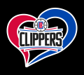 Los Angeles Clippers Heart Logo decal sticker
