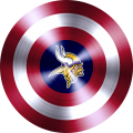 Captain American Shield With Minnesota Vikings Logo decal sticker