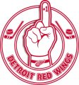 Number One Hand Detroit Red Wings logo iron on sticker