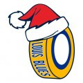 st.louis blues Hockey. louis blues Hockey ball Christmas hat logo decal sticker