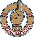 Number One Hand Florida Panthers logo iron on sticker