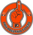 Number One Hand Philadelphia Flyers logo iron on sticker