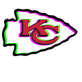 Phantom Kansas City Chiefs logo iron on sticker