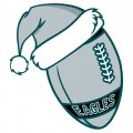 Philadelphia Eagles Football Christmas hat logo iron on sticker