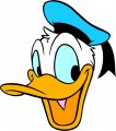 Donald Duck Logo 49 decal sticker