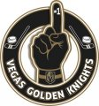 Number One Hand Vegas Golden Knights logo iron on sticker