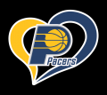 Indiana Pacers Heart Logo decal sticker