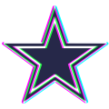 Phantom Dallas Cowboys logo iron on sticker