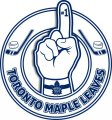 Number One Hand Toronto Maple Leaves logo iron on sticker
