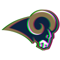 Phantom Los Angeles Rams logo iron on sticker